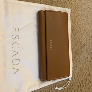 Escada Tan Leather Wallet